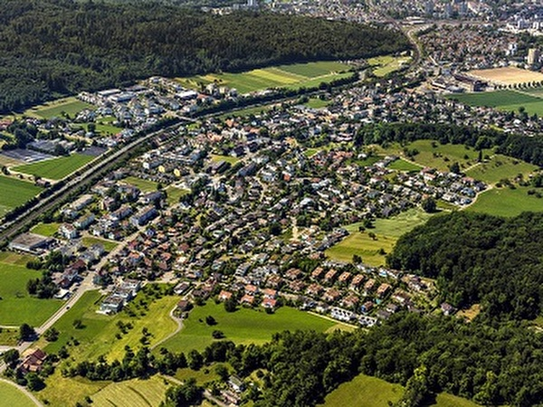 Luftbildaufnahme von Hausen AG 2017