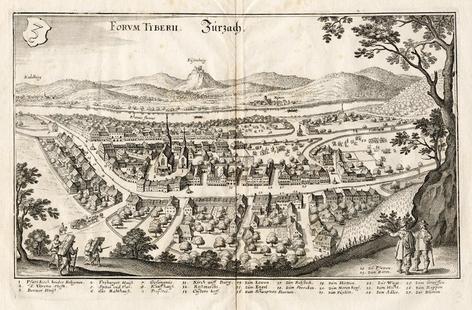 Zurzach, Vedute von Matthaeus Merian 1642