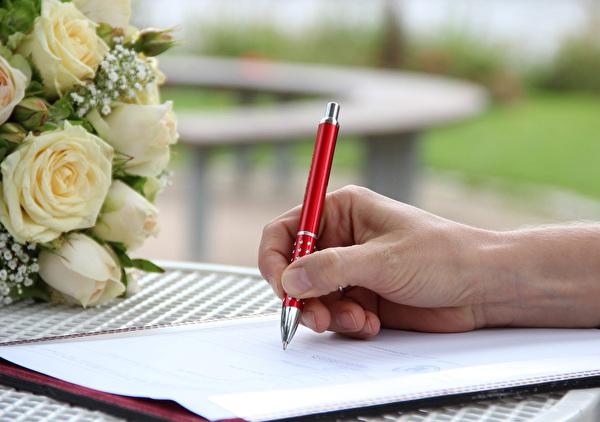 Unterschrift für Eheschliessung