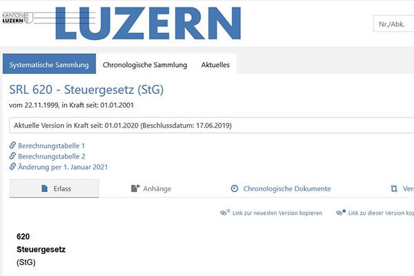 Luzerner Steuergesetz
