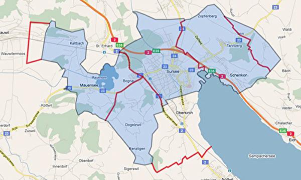 Karte Friedhofkreis Sursee