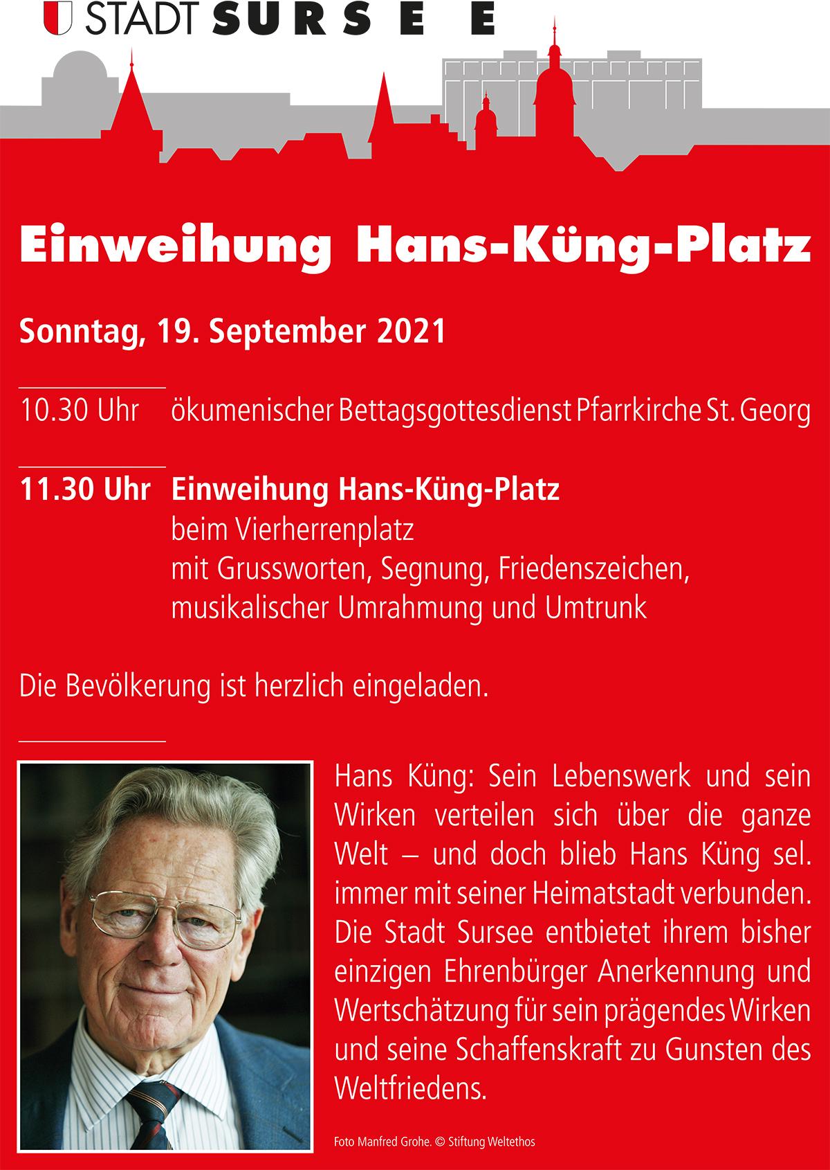 Hans Küng Plakat