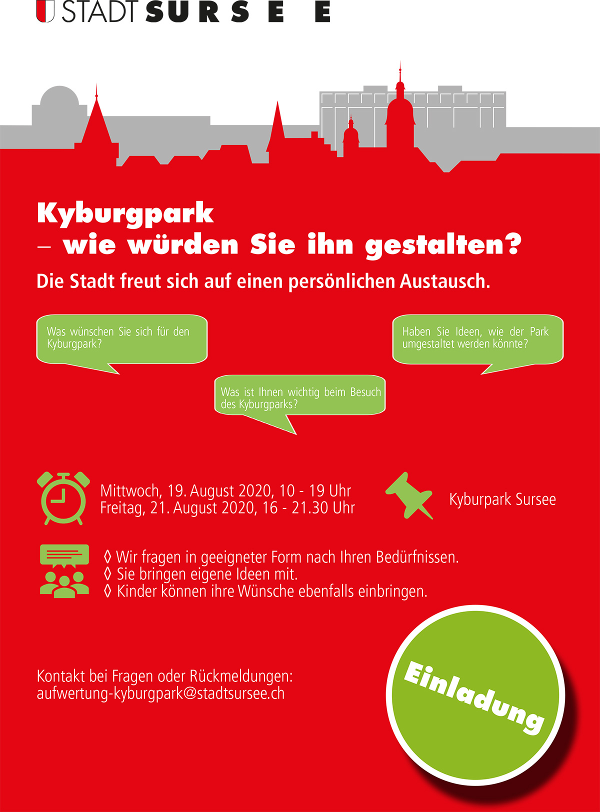 Veranstaltung Kyburgpark