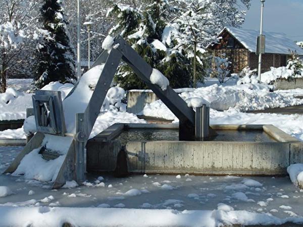 Fontaine devant le bureau communal