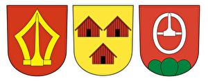 Wappen der Gemeinden Wädenswil, Hütten und Schönenberg