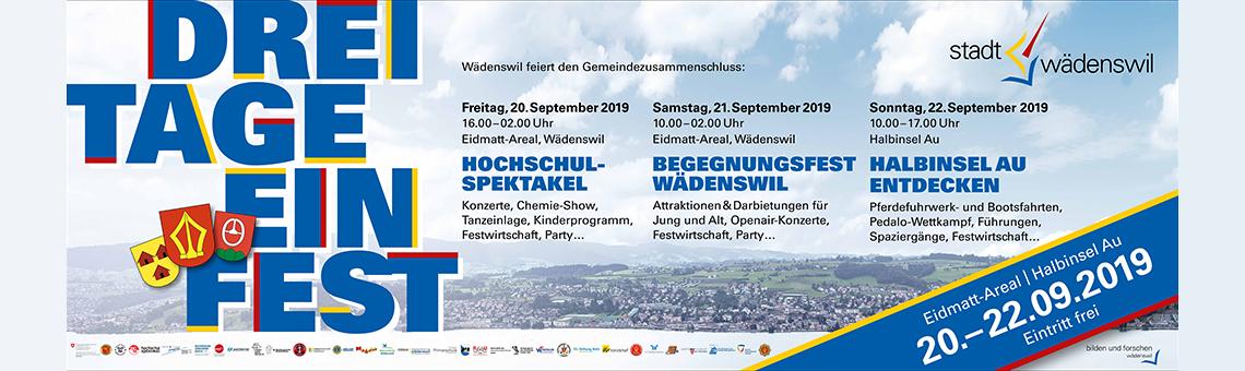 Ansicht Gemeinde Wädenswil vom See her
