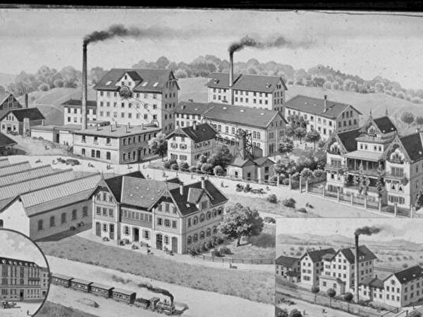 Tuchfabrik Fleckenstein um 1890