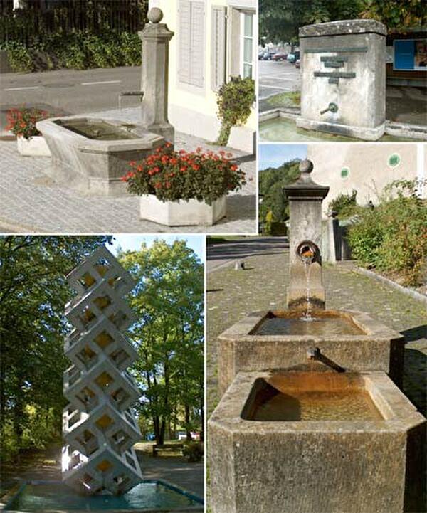 Brunnen in Wohlen und Anglikon