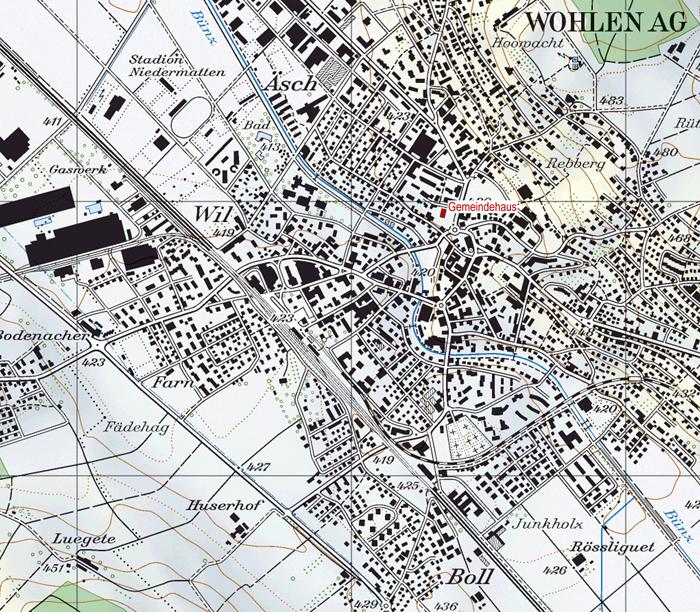 Lageplan Gemeindehaus Wohlen