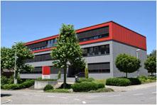 Rotes IB Wohlen AG Haus