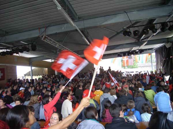 Fanmeile mit Liveübertragung der Fussball WM 2010