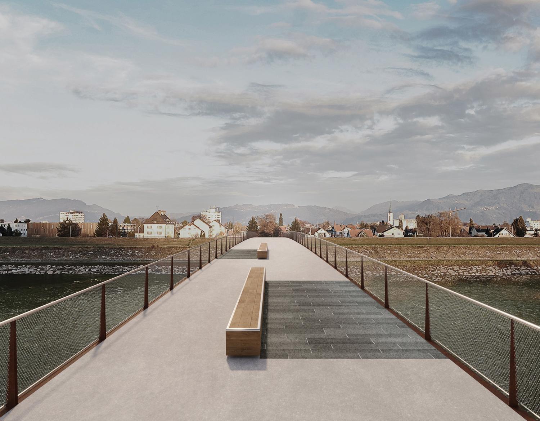 LV Brücke Au-Lustenau, Visualisierung bei Tag