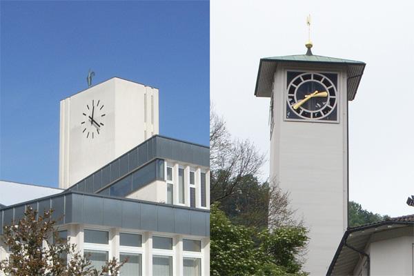 evangelische Kirchen Heerbrugg und Au
