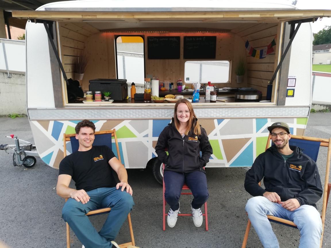 Team Offene Jugendarbeit: Nathan, Daniela, Dario