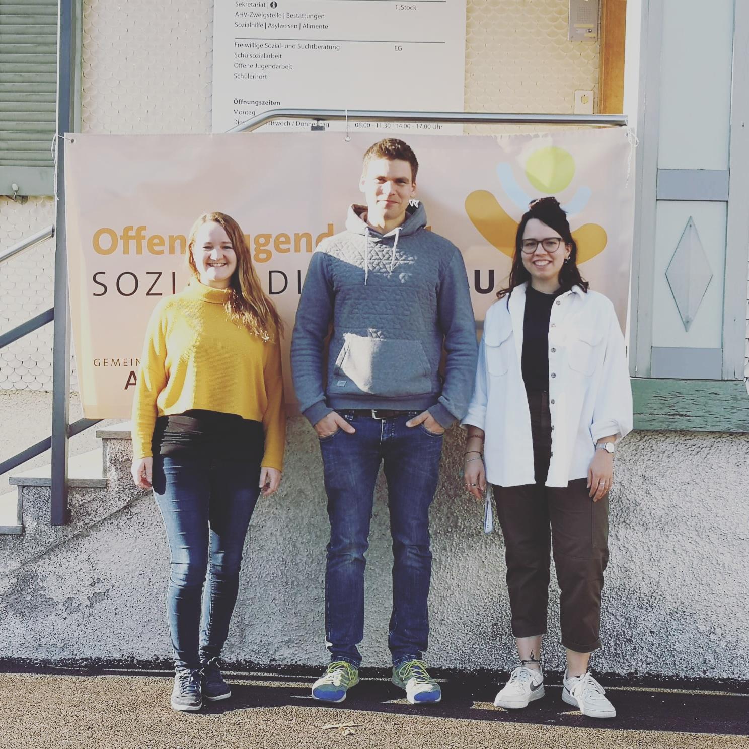 Team Offene Jugendarbeit: Daniela Benz, Denise Baumgartner, Nathan Bär