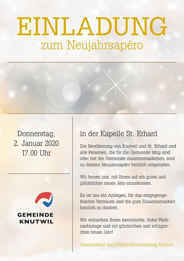 Einladung Neujahrsapéro