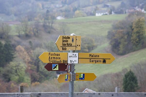 Ansicht Wanderweg-Signalisation