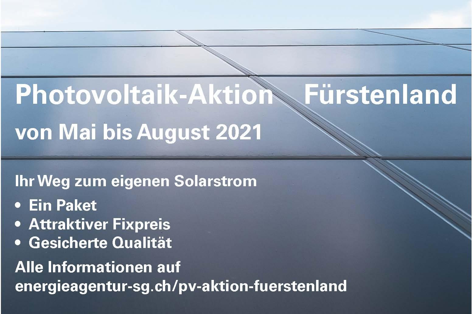 Plakat PV-Aktion