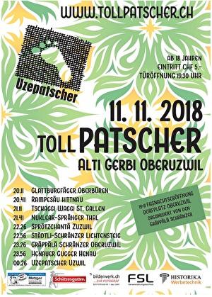 Flyer Tollpatscher 2018, Alti Gerbi, 19:30 Uhr