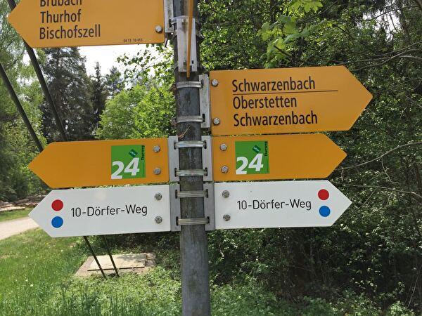 Wegweiser 10-Dörfer-Weg
