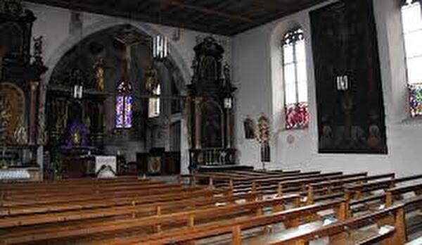 Fastentuch in der St. Justuskirche