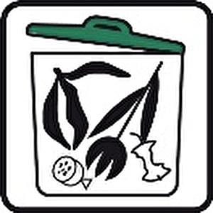 Grüngut, Bioabfälle, Speisereste, Weihnachtsbäume