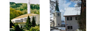 Die katholische und die reformierte Kirche Schlieren