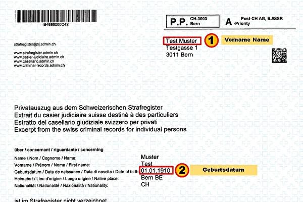 Strafregisterauszug