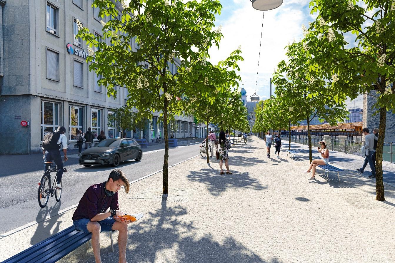 Visualisierung neue Bahnhofstrasse