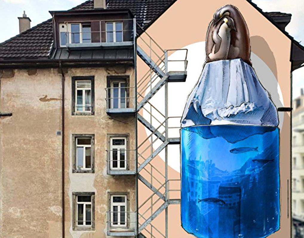 Wandbild Streetart