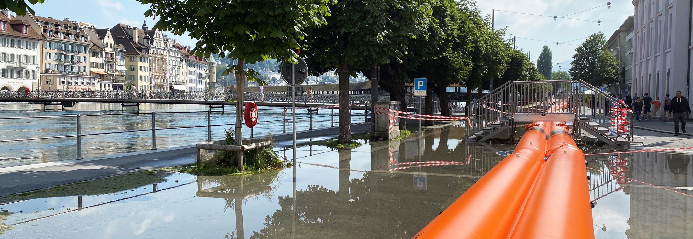 Hochwasser 2021 an der Bahnhofstrasse