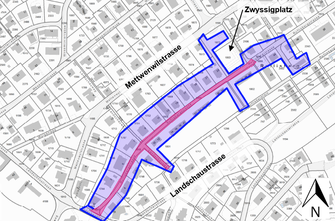 Situationsplan Ruflisbergstrasse