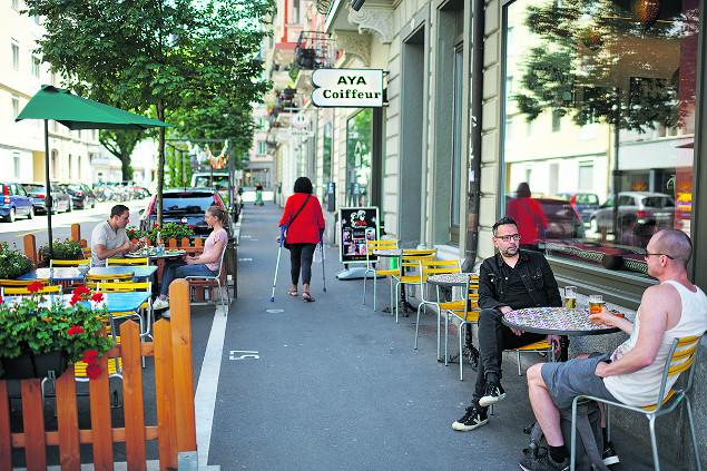 Trottoir in Luzern