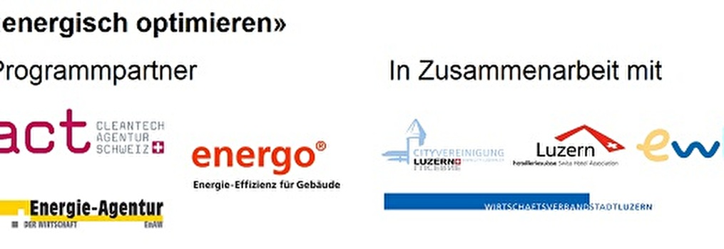 Partner der Aktion «energisch optimieren»