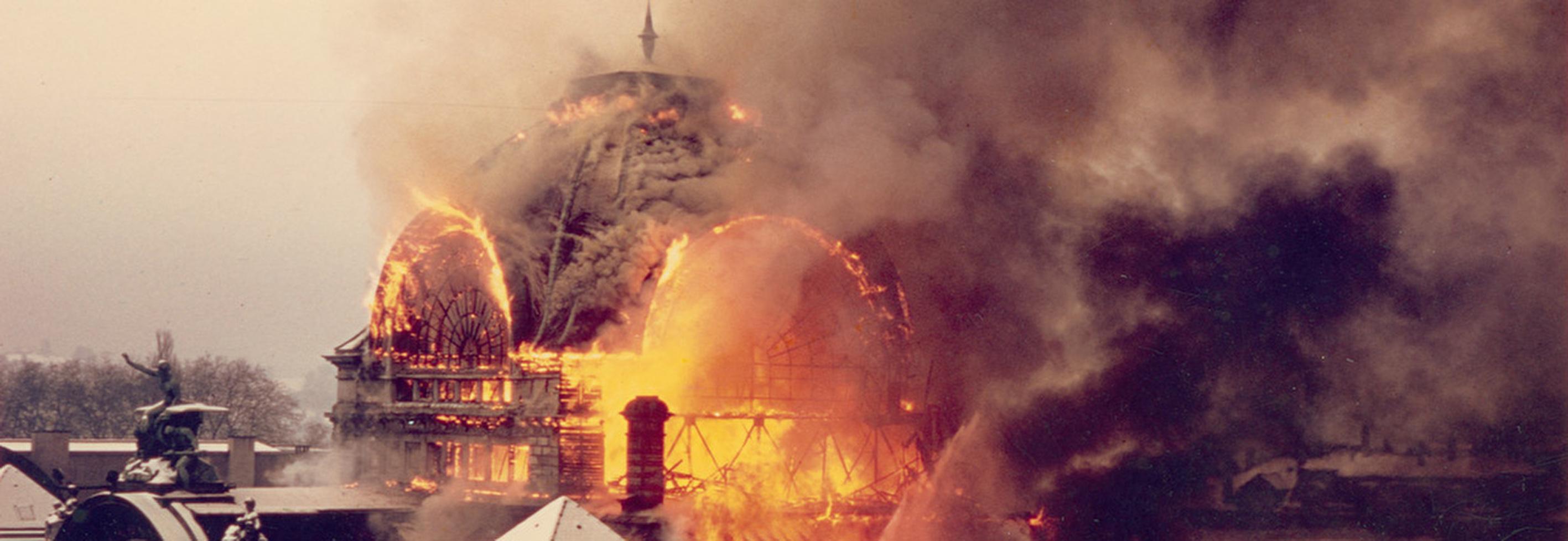 Bahnhofbrand Luzern 1971
