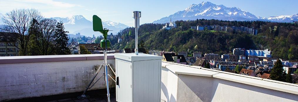 Messstation von Meteo Schweiz / Messgerät «Swisens Poleno» von Swisens AG