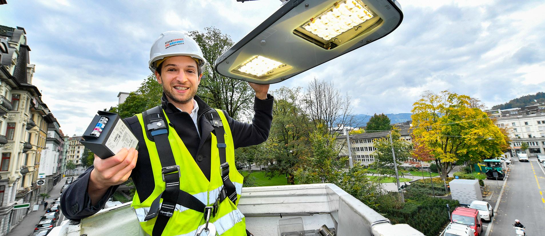 LED-Leuchten f?r das Hirschmattquartier