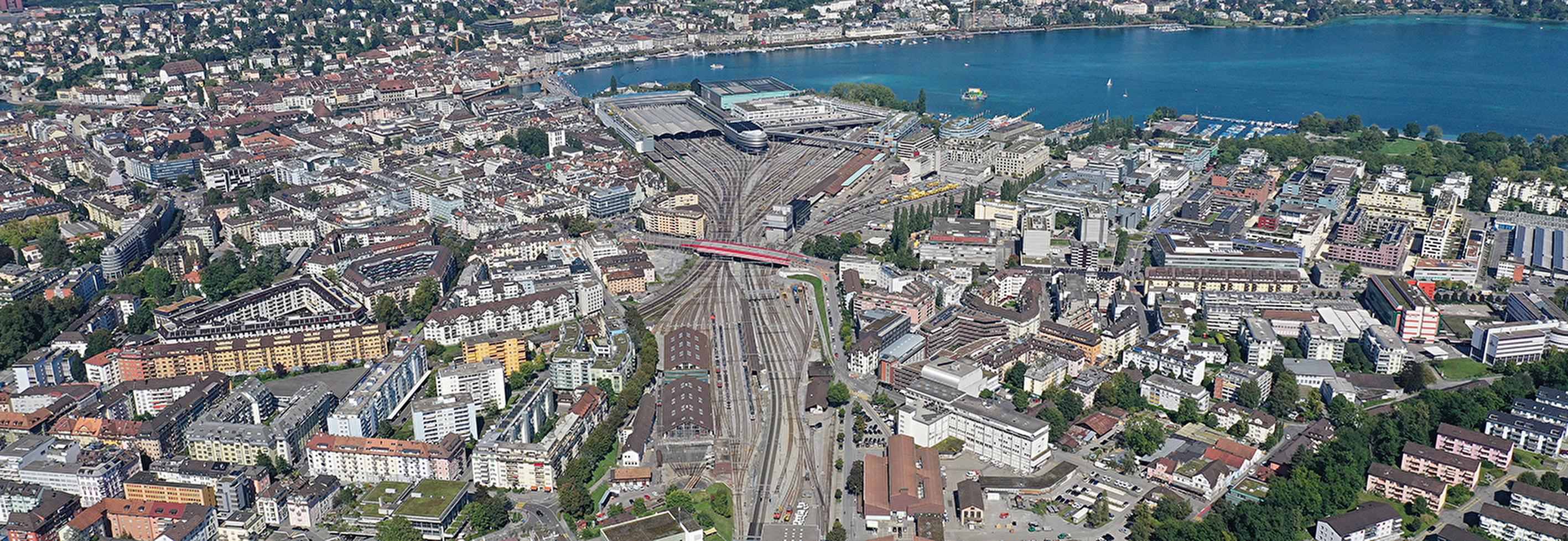Luftbild Bahnhof Luzern