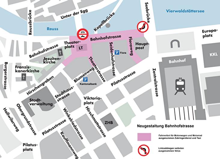 Visualisierung zukünftige Verkehrsführung