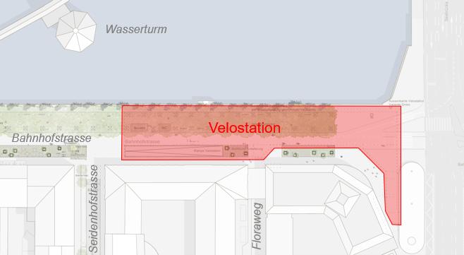 Lage Velostation