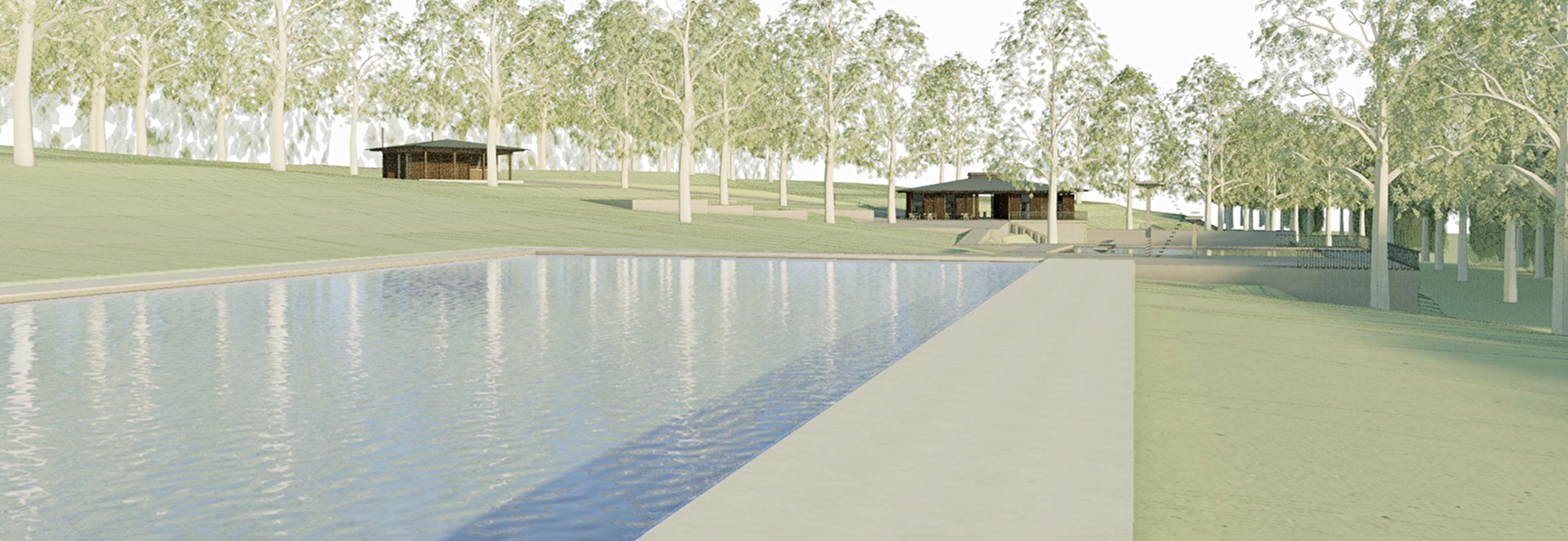Visualisierung Waldschwimmbad Zimmeregg