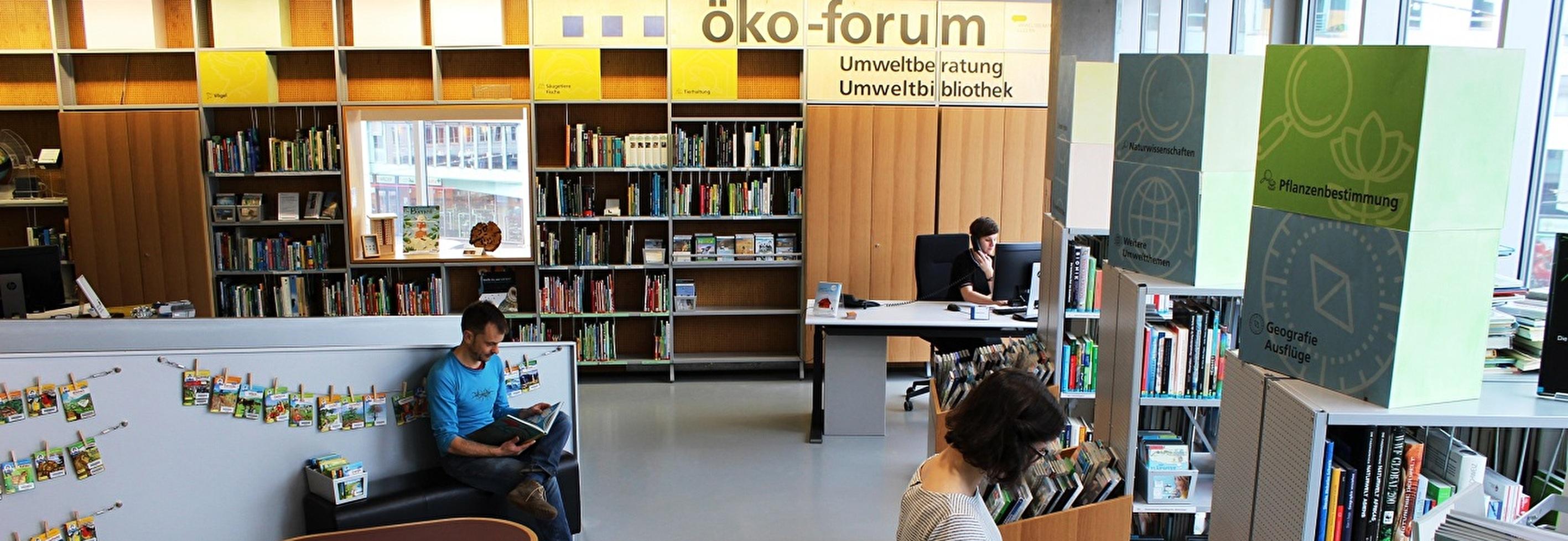Blick ins öko-forum der Umweltberatung Luzern