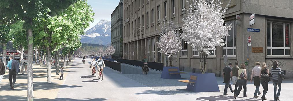 Neue Bahnhofstrasse Visualisierung