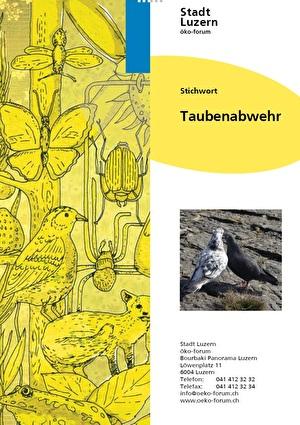 Cover der Stichwortbroschüre Taubenabwehr