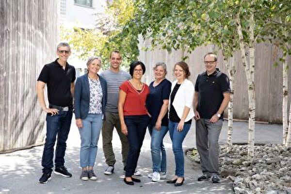 Stephan Bleisch (Primar Altstätten), Kerryn Ryffel (OZO/M), Ruth Zai (Primar Rüthi-Eichberg), Marion Heeb (OS Rema & SH Feld), Simon Stieger (Primar Rebstein, Marbach, Kriessern), Veronika Bertolini (OS Wiesental), Ruedi Gasser (Leiter/ Jugendberater)