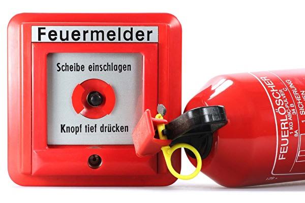 Feuermelder und Feuerlöscher