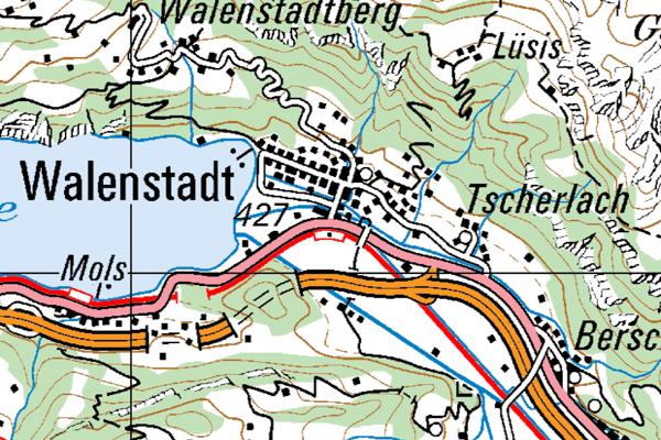 Karte Walenstadt