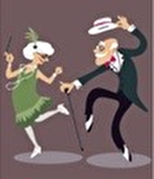 Tanzendes Seniorenpaar