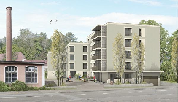 Öffentliche Auflage Sondernutzungsplan Mehrfamilienhaus Spinnerei-Jona
