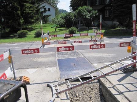 Sicherung Fahrbahn
